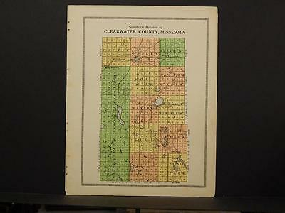 Minnesota Clear Water County Map  1912  2pgs Y7#05