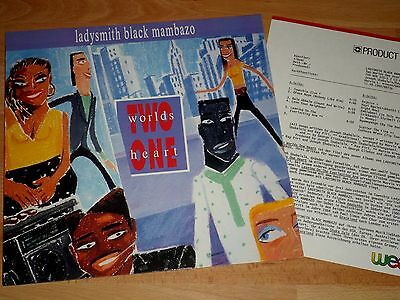 LADYSMITH BLACK MAMBAZO - TWO WORLDS ONE HEART - LP in EX + PRODUCT FACTS!!