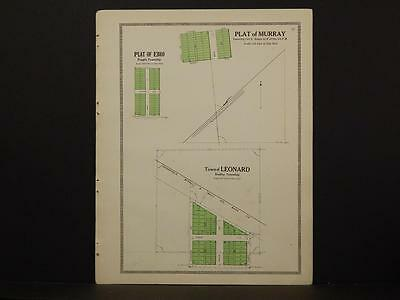 Minnesota Clear Water County Map Murray Erro Leonard 1912 Y7#07