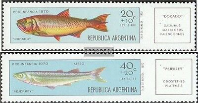 Argentina 1079-1080 unmounted mint / never hinged 1971 Fish