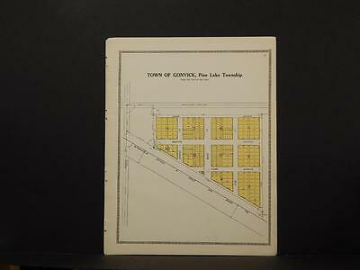 Minnesota Clear Water County Map City of Gonrick  1912  Y7#10