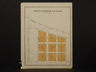 Minnesota Clear Water County Map Town of Clearbrook 1912  Y7#12
