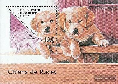 Guinea block514 (complete.issue.) unmounted mint / never hinged 1997 Dogs