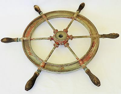 30's Wilcox Crittenden Metal Ship's Wheel Sunken Ship Recovered  Alameda Estuary