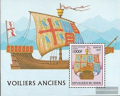 Benin Block33 (complete.issue.) unmounted mint / never hinged 1997 Sailboats