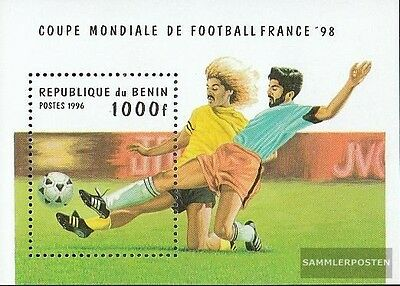 Benin block15 (complete.issue.) unmounted mint / never hinged 1996 Football-WM ´