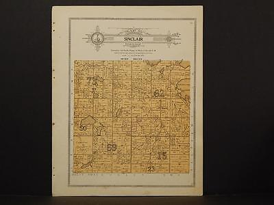 Minnesota Clear Water County Map Sinclair Township 1912  Y7#18