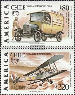 Chile 1635-1636 mint never hinged mnh 1994 Postal delivery