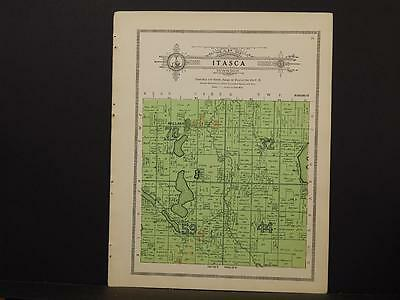 Minnesota Clear Water County Map Itasca Township 1912  Y7#29
