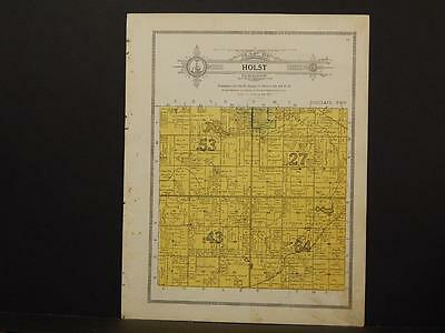Minnesota Clear Water County Map Holst Township 1912  Y7#30