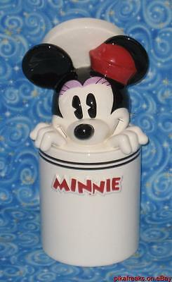 Disney Store Minnie Mouse Large Cookie Jar Peek A Boo Lid Next Day USA Shipping