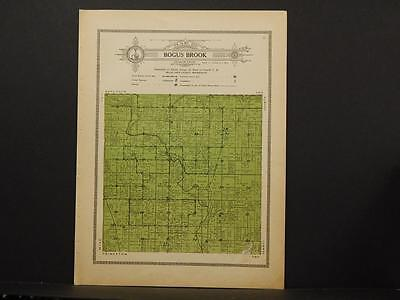 Minnesota Mille Lacs County Map Bogus Brook Township 1914 Dbl pg Y7#40