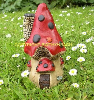 New Rubber Latex Mould Moulds Mold Fairy Fairie Mushroom Toadstool House H