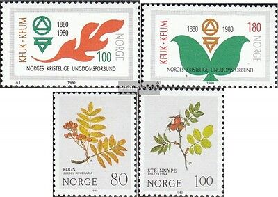 Norway 809-810,825-826 (complete issue) unmounted mint / never hinged 1980 speci