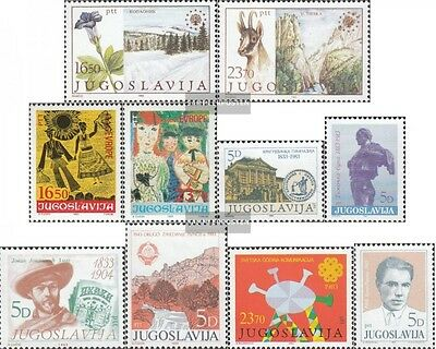 Yugoslavia 2000-01,2002-03,04,05 2006,19,21,22 (complete issue) unmounted mint /