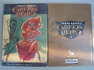 "Shane Glines'  ""cartoon Retro"". New / Sealed, Full Color A4 Size Hardback Book"