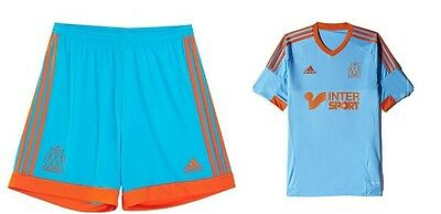 Olympique Marseille Jersey with Trousers Size S New Adidas Flocking possible