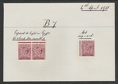GB Cinderellas 3190 - 1911 MINERVA HEAD INK TRIAL by De La Rue