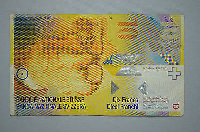 2006 Switzerland 10 Francs Note Measuring System (no55)