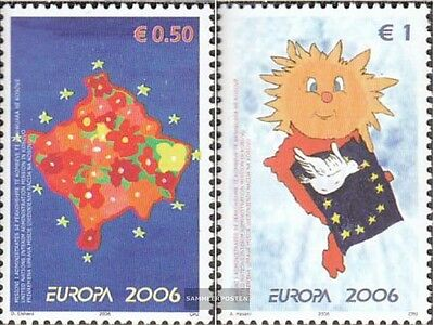 kosovo (UN-Administration) 43-44 mint never hinged mnh 2006 Europe: Integration