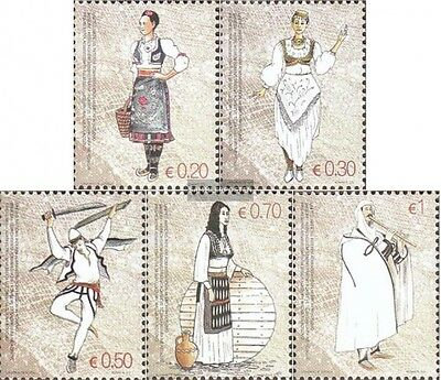 kosovo (UN-Administration) 74-78 mint never hinged mnh 2007 Costumes