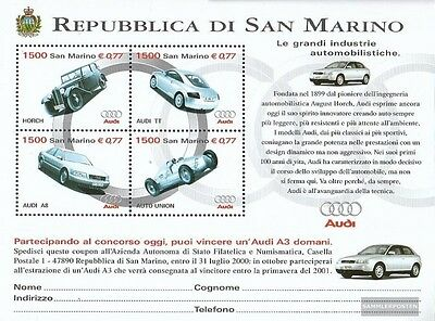 San Marino Block 26 (complete.issue.) unmounted mint / never hinged 1999 automob