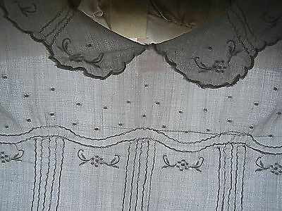 """Vintage 1920's Edwardian Cotton delicate embroidery Baby GOWN  DRESS chest 20"""""""