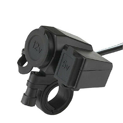 Motorcycle Waterproof 12V Cigarette Lighter Socket Phone GPS USB Power Charger