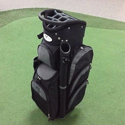 2017 Eagles & Birdies BIG FRIDGE Deluxe Cart Bag LOADED WITH FEATURES - Blk/Char