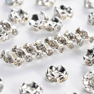 Wholesale 500pcs Crystal Rhinestone Rondelle Spacer Beads Size 8mm