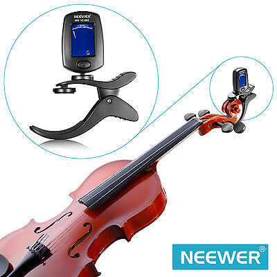 Neewer Chromatic Clip-on Violin Tuner with a 360 Degree Rotational LCD Display