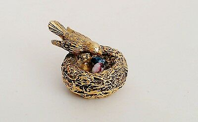 Max Factor Solid Perfume Spring Song Bird Nest 2 Agate Eggs Full Hypnotique EUC