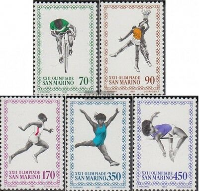 San Marino 1214-1218 (complete.issue.) unmounted mint / never hinged 1980 Olympi