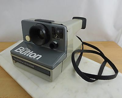 Vintage POLAROID 'The Button' Instant Film Camera WORKING
