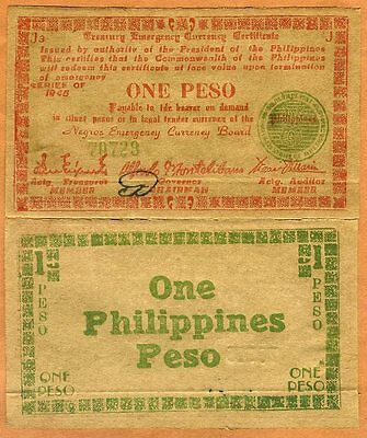 Philippines, 1 Peso, 1945, Pick S681, WWII XF