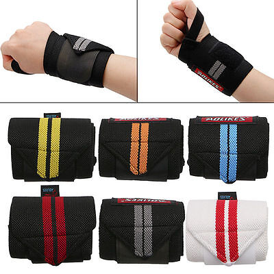 Hand Wrist Wraps Strap Crossfit Powerlifting Bodybuilding Support Weight Lifting