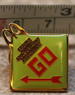 McDonalds Monopoly Collect Pass Go Employee Collectible Pinback Pin Button