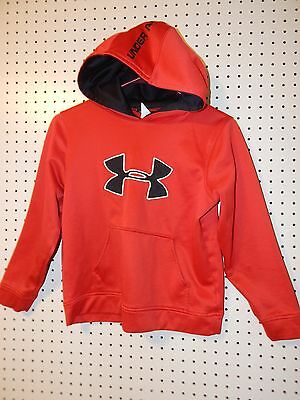 Youth Under Armour loose hoodie - Youth medium - red / black