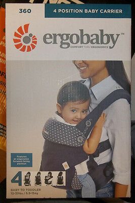 ErgoBaby 360 4 Position Baby Carrier Dusty Blue BC360ABLU NEW!! FREE SHIPPING!!