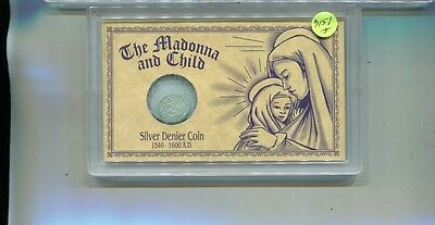 Madonna And Child Silver Denier Ancient Coin 1540 - 160 Ad