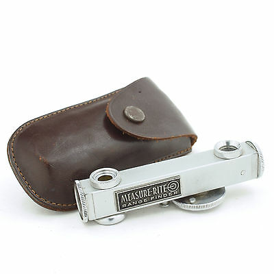 Vintage Measure Rite range finder camera rangefinder with leather case