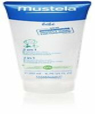 Mustela Bebe 2 in 1 Hair And Body Wash Baby Cleansing Gel 200ml 6.76oz