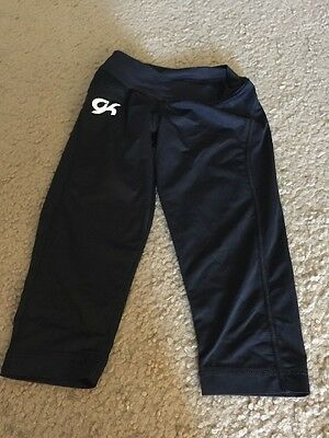 GK Elite Girls Dance Skate Gymnastics Crop  Black Size CSmall Child