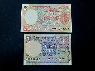 India Banknote Lot Of 2 Notes