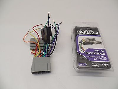 scosche stereo connector chrysler 1974-up -- cr012-- as is