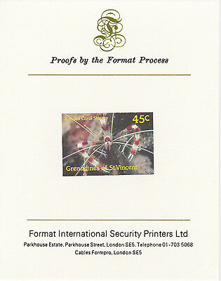 St Vincent Grens 3203 - 1987 MARINE LIFE 45c on Format International PROOF  CARD