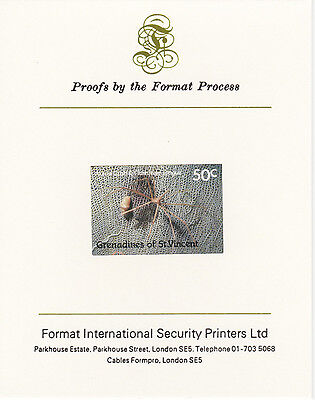 St Vincent Grens 3204 - 1987 MARINE LIFE 50c on Format International PROOF  CARD