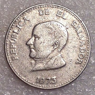 El Salvador 25 Centavos 1973 Nickel  #2222