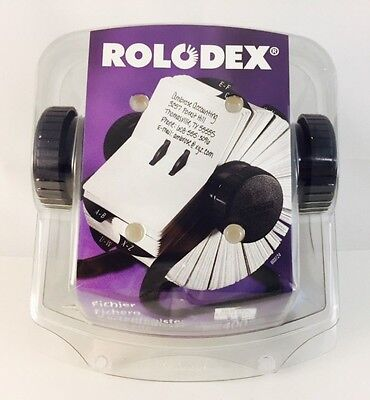 Rolodex Open Rotary Card File Holds 400 2-1/4 x 4 Cards, Black - 603725