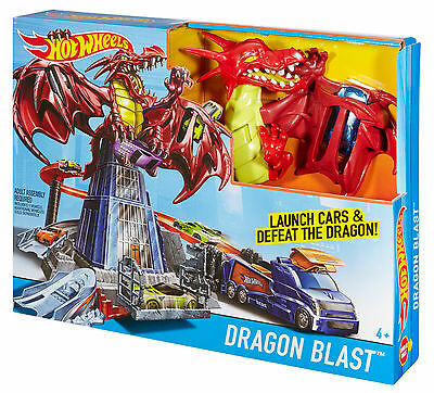 Mattel - Hot Wheels Drachen-Attacke Spielset, Neu, Ovp, DWL04